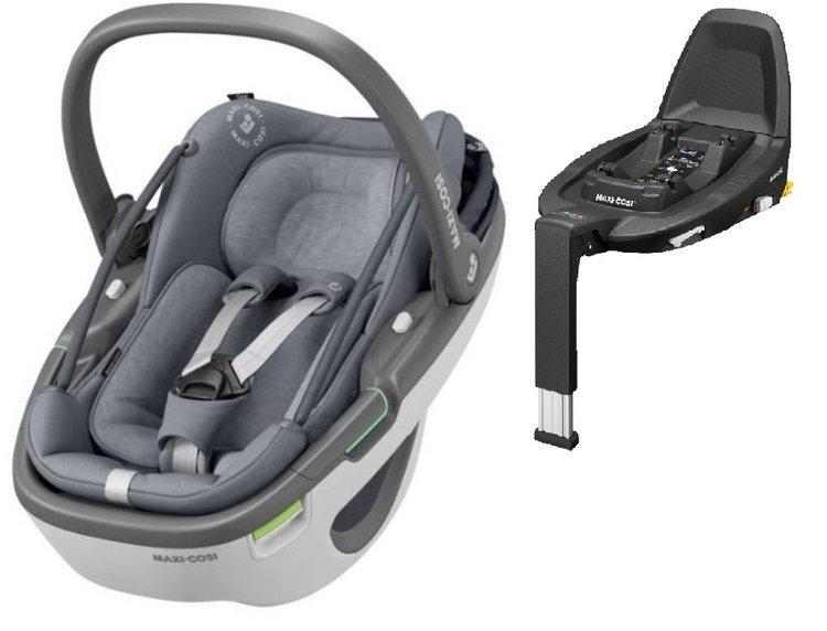 Maxi Cosi Coral Essential grey Bērnu autosēdeklis 0-13 kg + FamilyFix3 bāze