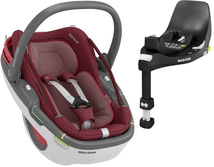 Maxi Cosi Coral 360 Essential red Bērnu autosēdeklis 0-13 kg + Familyfix 360 bāze