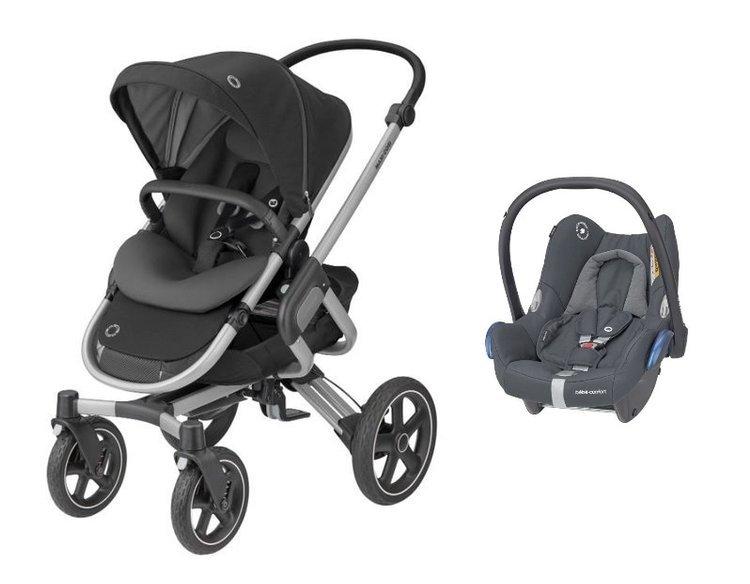 MAXI-COSI Nova 4 Essential Black Sporta rati + Cabriofix 0-13 kg