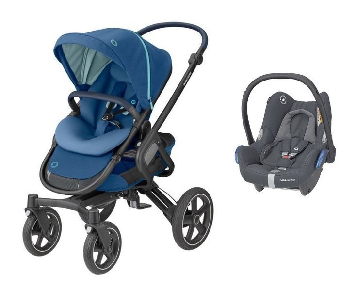 MAXI-COSI Nova 4 Essential Blue Sporta rati + Cabriofix 0-13 kg