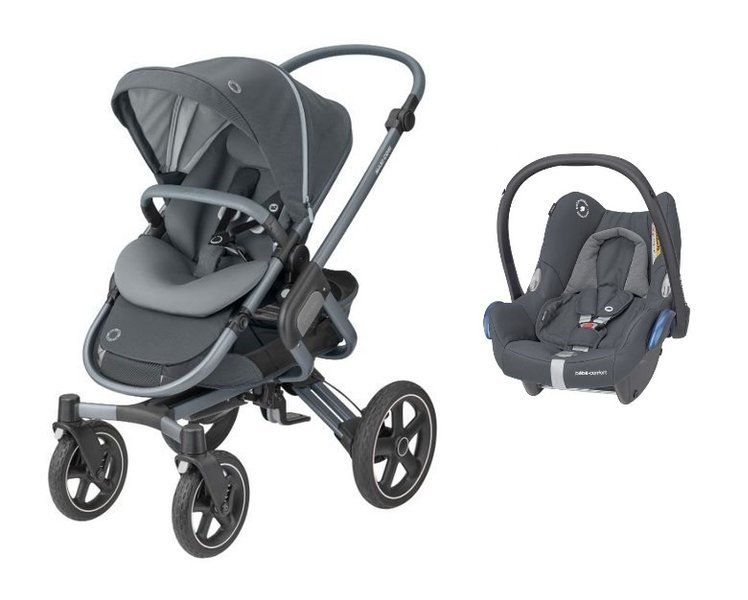 MAXI-COSI Nova 4 Essential Graphite Sporta rati + Cabriofix 0-13 kg