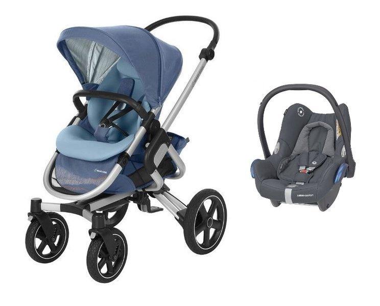 MAXI-COSI Nova 4 Frequency Blue Sporta rati + Cabriofix 0-13 kg