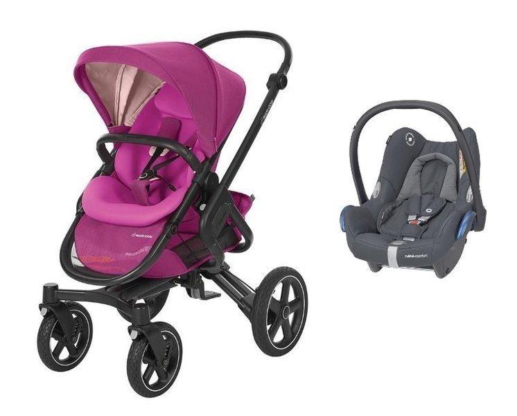 MAXI-COSI Nova 4 Frequency Pink Sporta rati + Cabriofix 0-13 kg