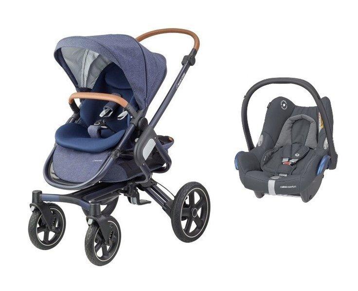 MAXI-COSI Nova 4 Sparkling Blue Sporta rati + Cabriofix 0-13 kg