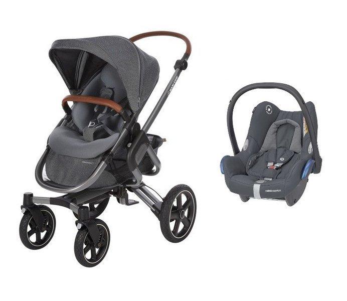 MAXI-COSI Nova 4 Sparkling Grey Sporta rati + Cabriofix 0-13 kg