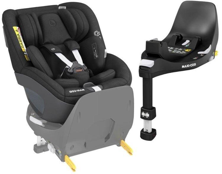 Maxi Cosi Pearl 360 Authentic black Bērnu autosēdeklis 0-18 kg + Familyfix bāze