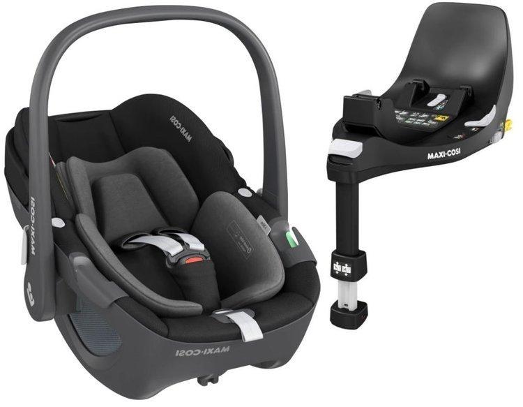 Maxi Cosi Pebble Essential black Bērnu autosēdeklis 0-13 kg + Familyfix 360 bāze