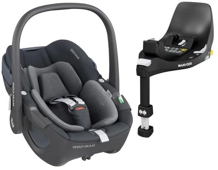 Maxi Cosi Pebble Essential graphite Bērnu autosēdeklis 0-13 kg + Familyfix 360 bāze
