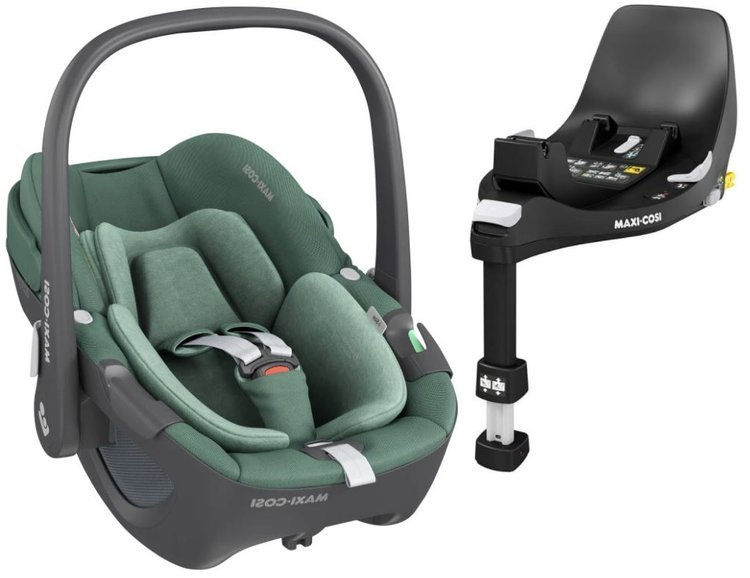 Maxi Cosi Pebble Essential green Bērnu autosēdeklis 0-13 kg + Familyfix 360 bāze