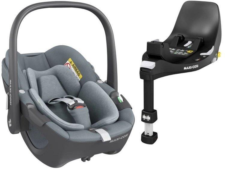 Maxi Cosi Pebble Essential grey Bērnu autosēdeklis 0-13 kg + Familyfix 360 bāze