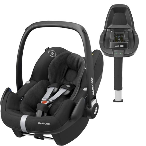 Maxi Cosi Pebble Pro Essential black Bērnu autosēdeklis 0-13 kg + Familyfix2 bāze