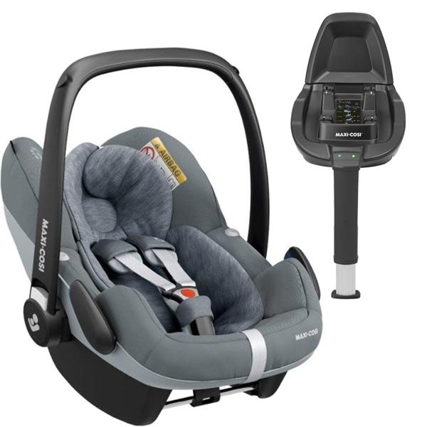 Maxi Cosi Pebble Pro Essential grey Bērnu autosēdeklis 0-13 kg + Familyfix2 bāze