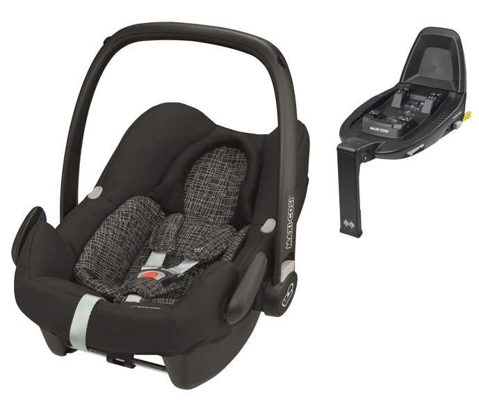 Maxi Cosi Rock Black grid Bērnu autosēdeklis 0-13 kg + Familyfix2 bāze