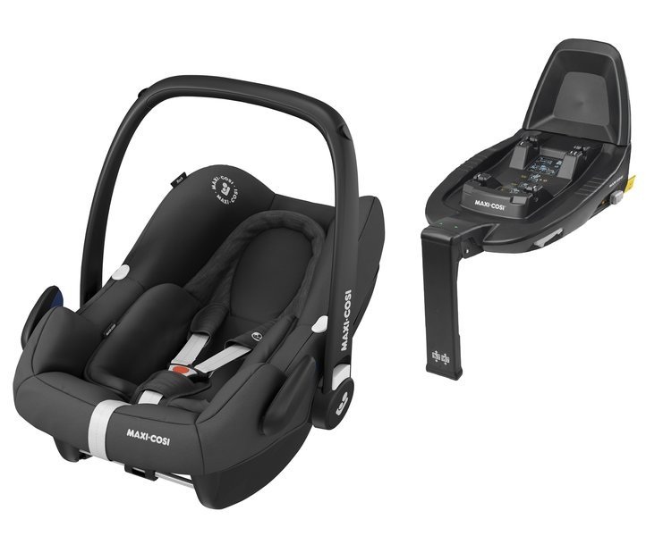 Maxi Cosi Rock Essential Black Bērnu autosēdeklis 0-13 kg + Familyfix2 bāze