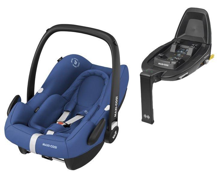 Maxi Cosi Rock Essential Blue Bērnu autosēdeklis 0-13 kg + Familyfix2 bāze