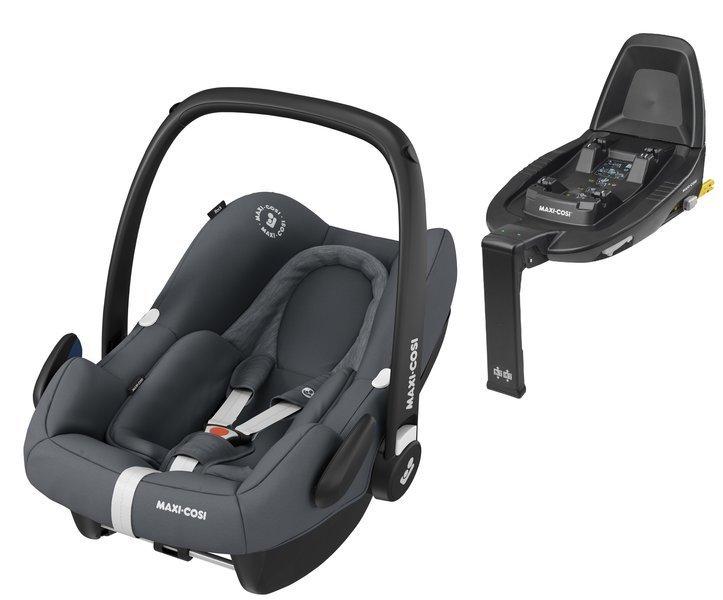 Maxi Cosi Rock Essential graphite Bērnu autosēdeklis 0-13 kg + Familyfix2 bāze