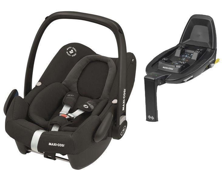 Maxi Cosi Rock Frequency Black Bērnu autosēdeklis 0-13 kg + Familyfix2 bāze