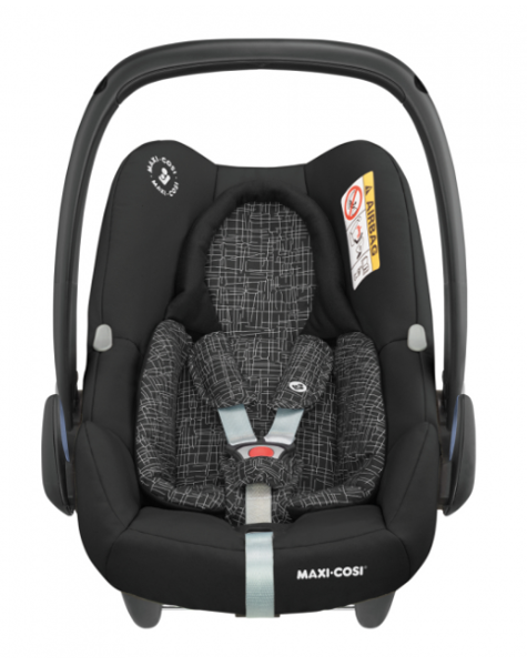 MAXI COSI Rock I-Size Black Grid Bērnu autosēdeklis 0-13 kg
