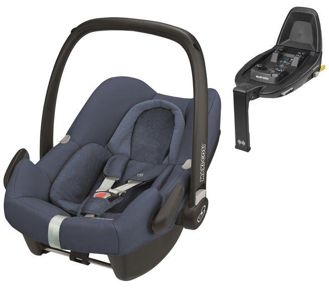 Maxi Cosi Rock Nomad Blue Bērnu autosēdeklis 0-13 kg + Familyfix2 bāze