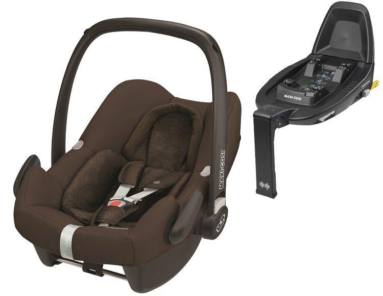 Maxi Cosi Rock Nomad Brown Bērnu autosēdeklis 0-13 kg + Familyfix2 bāze