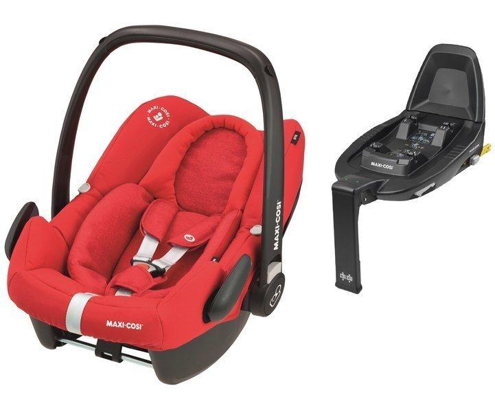 Maxi Cosi Rock Nomad Red Bērnu autosēdeklis 0-13 kg + Familyfix2 bāze