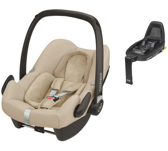 Maxi Cosi Rock Nomad Sand Bērnu autosēdeklis 0-13 kg + Familyfix2 bāze