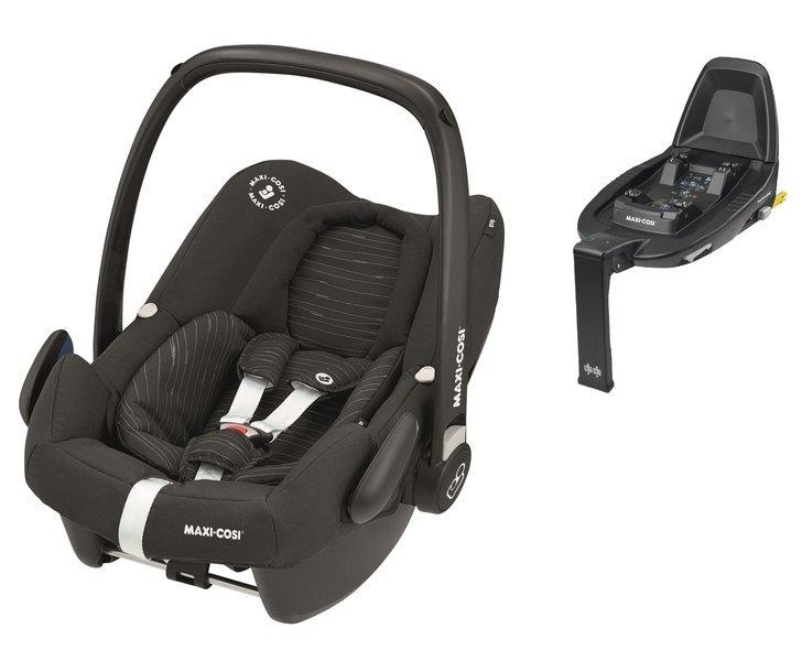 Maxi Cosi Rock Scribble Black Bērnu autosēdeklis 0-13 kg + Familyfix2 bāze