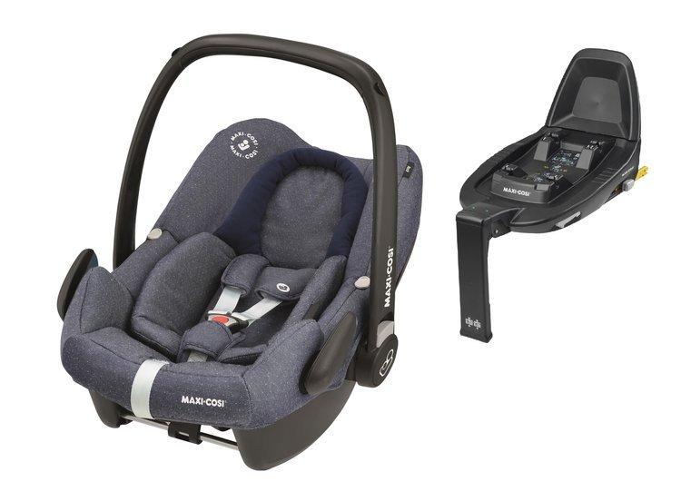 Maxi Cosi Rock Sparkling Blue Bērnu autosēdeklis 0-13 kg + Familyfix2 bāze