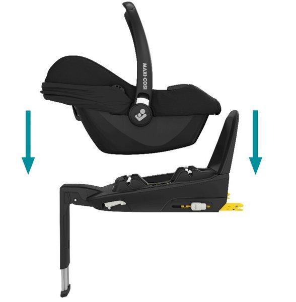 Maxi Cosi Tinca i-Size Essential black + FamilyFix2 base Bērnu autosēdeklis 0-13 kg