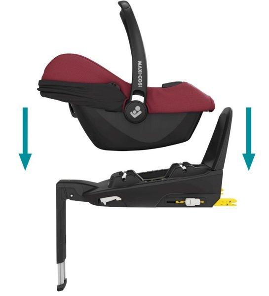 Maxi Cosi Tinca i-Size Essential red + FamilyFix2 base Bērnu autosēdeklis 0-13 kg
