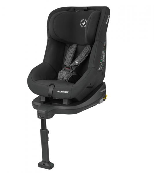 MAXI-COSI TobiFix Black Grid Bērnu autosēdeklis 9-18 kg