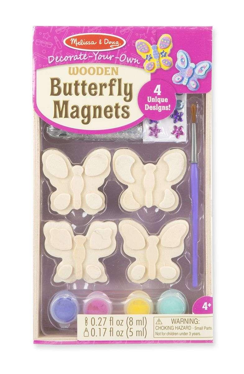 Melissa Doug Butterfly Magnets Komplekts-Izkrāso pats