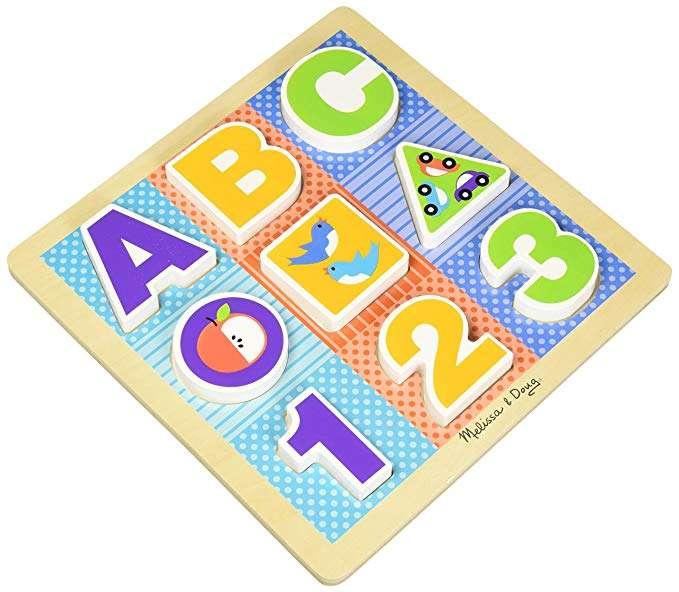 Melissa Doug Chunky Puzzle ABC Koka puzle mazuļiem