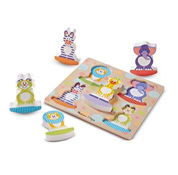 Melissa Doug Chunky Puzzle Safari Koka puzle mazuļiem