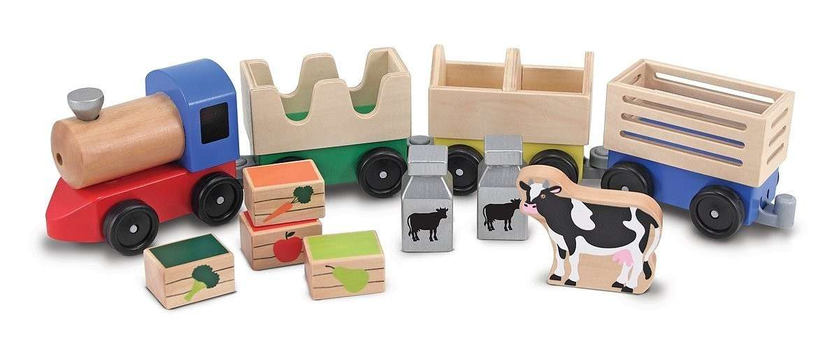Melissa&Doug Farm Train Koka vilciens