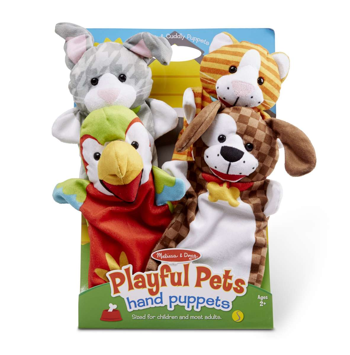 Melissa&Doug Hand Puppets Augstvērtīga plīša rokas Lelle