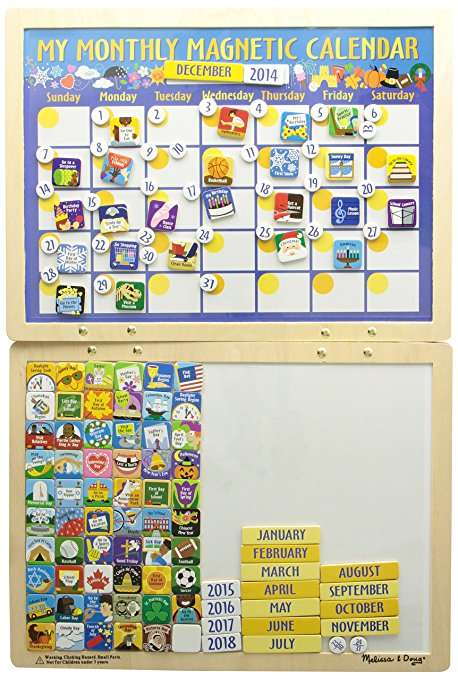 Melissa Doug Magnetic Calendar Magnētu kalendārs