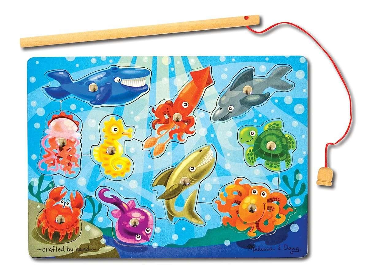 Melissa Doug Magnetic Fish Koka attīstošā rotaļlieta uz magnētiem