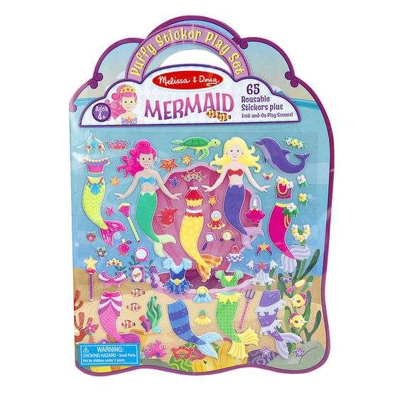 Melissa&Doug Mermaid Pufīgo uzlīmju grāmata