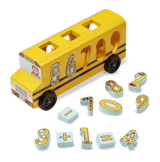 Melissa&Doug Number Bus Koka attīstošais Autobuss