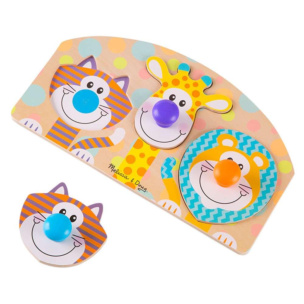 Melissa Doug Peg Puzzle Safari Koka puzle mazuļiem