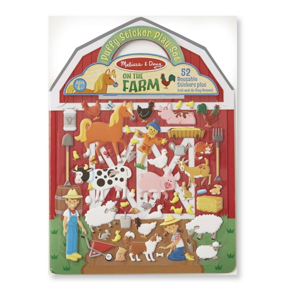 Melissa&Doug Puffy Stickers Farm Pufīgo uzlīmju grāmata