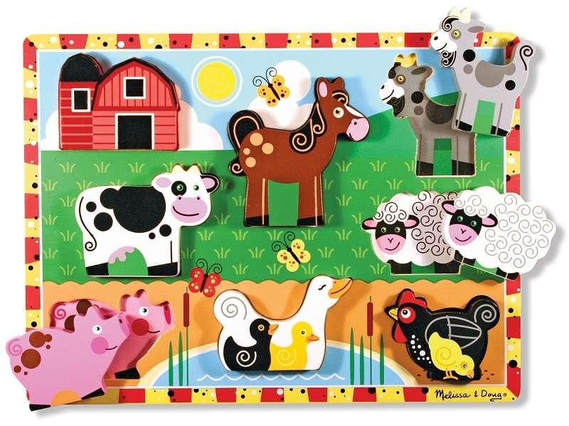 Melissa Doug Puzzles Farm Koka puzle mazuļiem