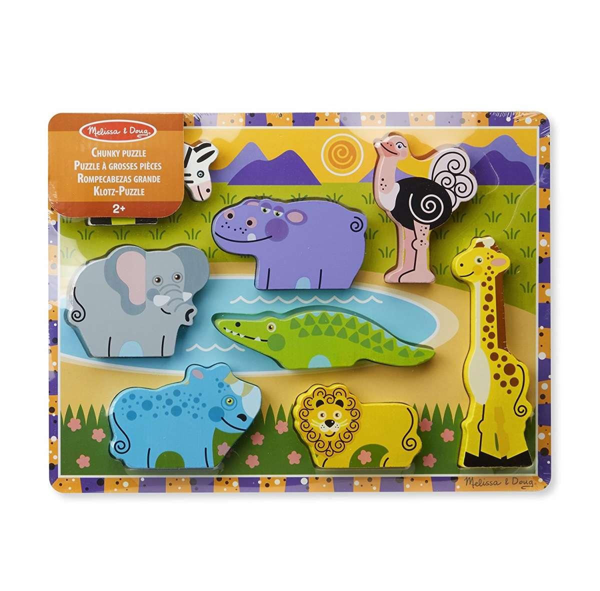 Melissa Doug Puzzles Safari Koka puzle mazuļiem
