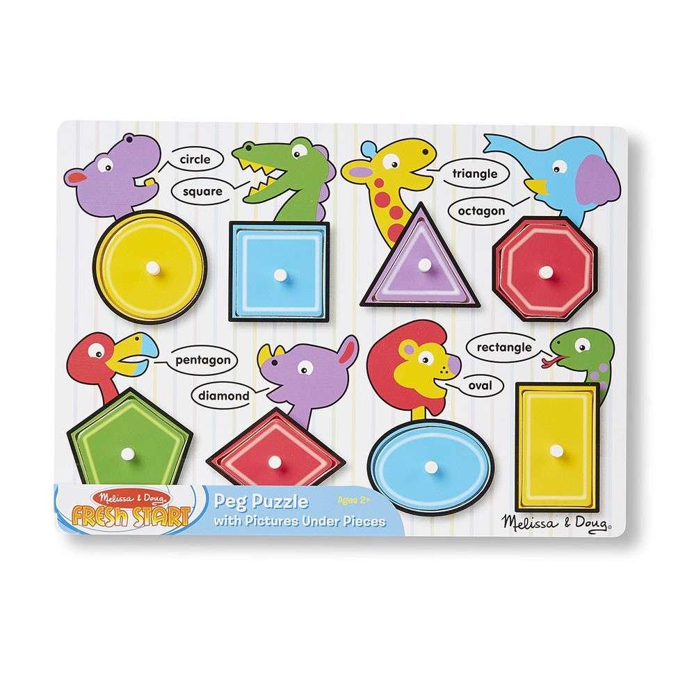 Melissa&Doug Puzzles Shapes Koka puzle mazuļiem Figūras