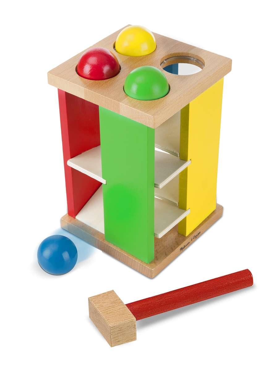Melissa&Doug Roll Tower Koka rotaļa ar āmuru