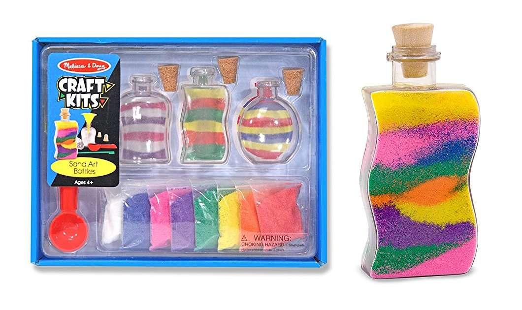 Melissa&Doug Sand Art Bottles Komplekts Trauks ar krāsu smilti