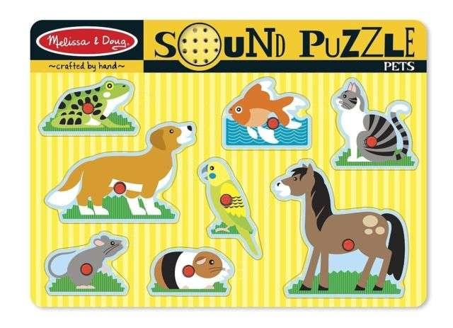 Melissa&Doug Sound Puzzles Pets Koka muzikāla puzle