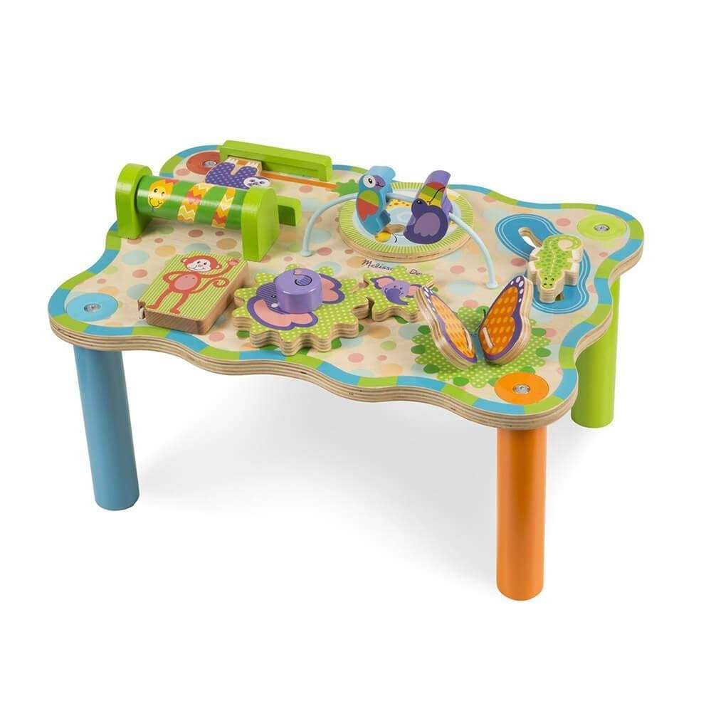 Melissa&Dough Jungle Activity Table Attīstošais koka galdiņš