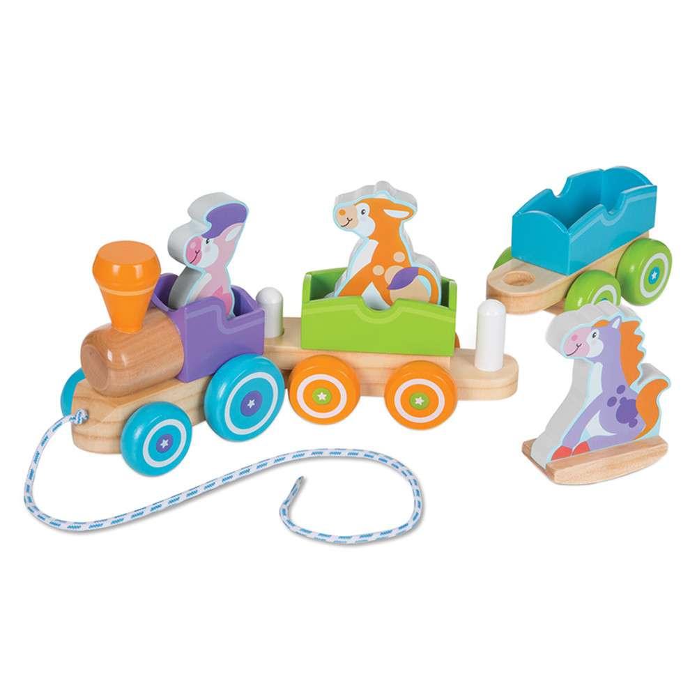 Melissa Dough Rocking Train Farm Koka stumjama rotaļlieta